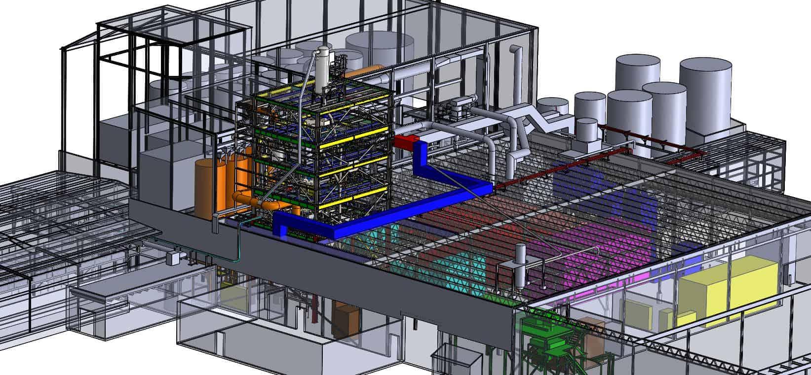 storage facility blueprint design 3D modeling